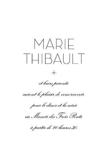Carton d'invitation mariage Boudoir (rect) beige