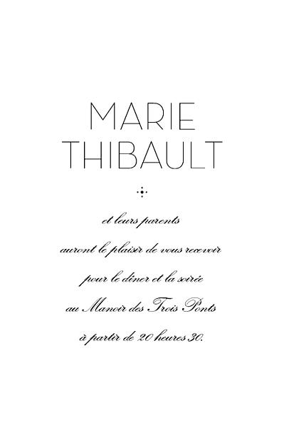 Carton d'invitation mariage Boudoir (rect) beige finition
