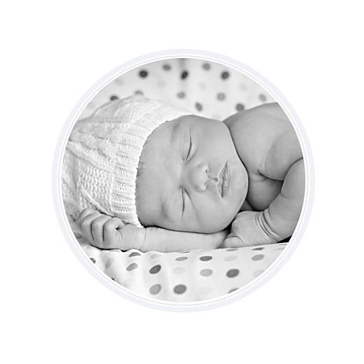 Faire-part de naissance Tambour photo bleu gris - Page 2