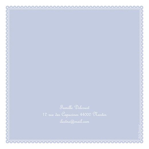 Faire-part de naissance Tambour photo bleu gris - Page 4