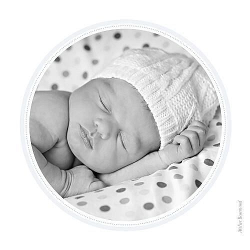 Carte de remerciement Petit tambour photo bleu gris - Page 2
