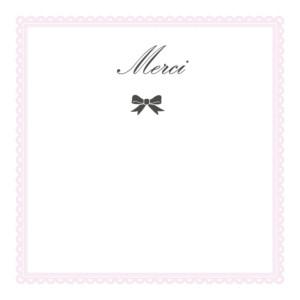 Carte de remerciement Petit versailles photo rose