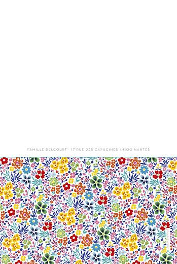 Faire-part de naissance Mille fleurs 4 photos jaune - Page 4