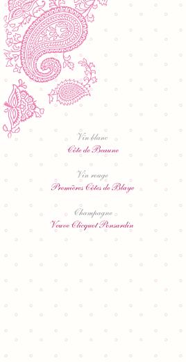 Menu de mariage Plumetis (4 pages) framboise - Page 2