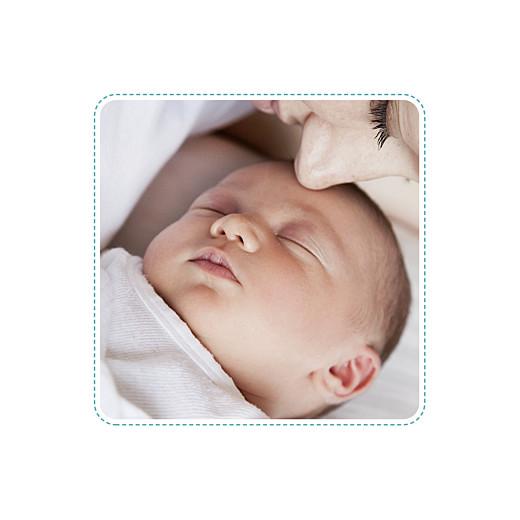 Faire-part de naissance Ruban étoilé 2 photos blanc turquoise - Page 2