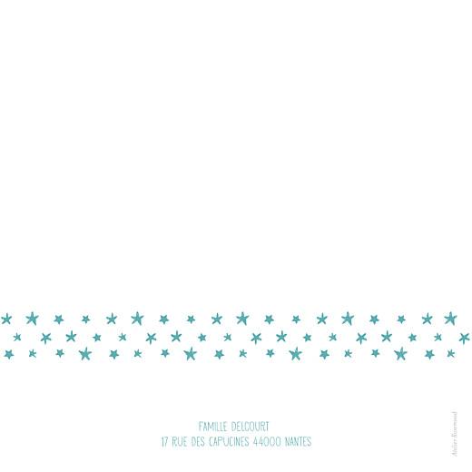 Faire-part de naissance Ruban étoilé 2 photos blanc turquoise - Page 4