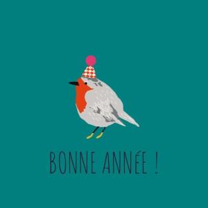 Carte de voeux Petit moineau photo canard