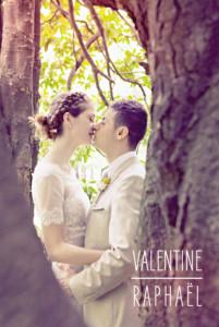 Carte de remerciement mariage Toi & moi (portrait) blanc