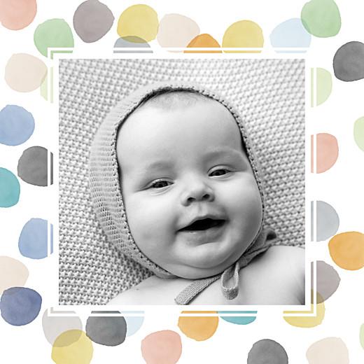 Faire-part de naissance Aquarelle photo 4 pages orange