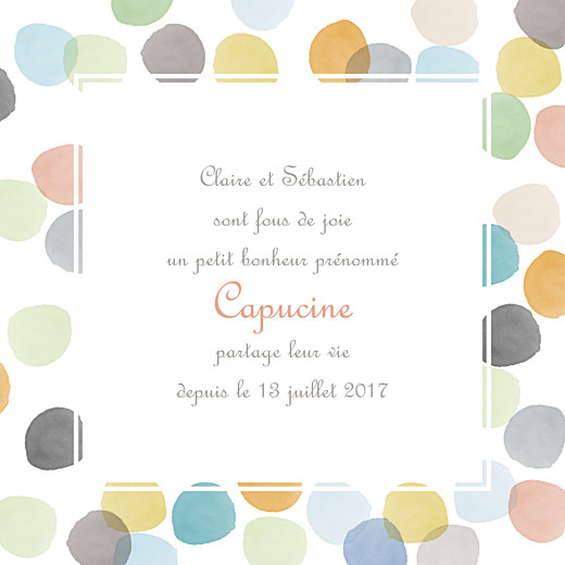Faire-part de naissance Aquarelle photo 4 pages orange - Page 3