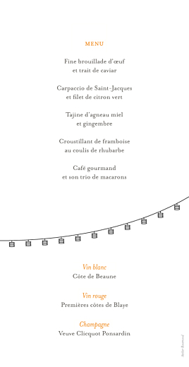 Menu de mariage Promesse champêtre blanc - Page 2