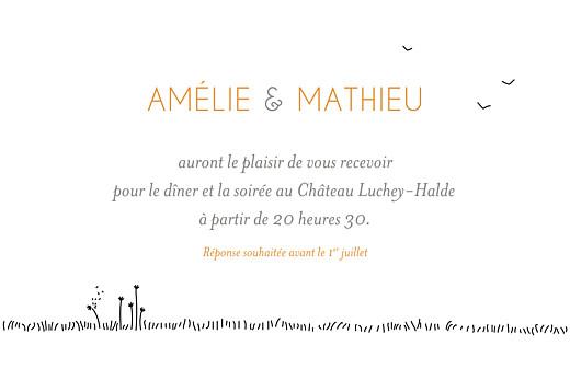 Carton d'invitation mariage Promesse champêtre blanc - Page 2
