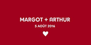 Marque-place mariage Amour rouge