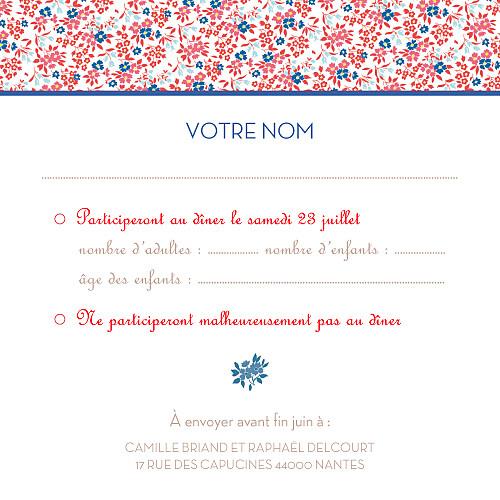 Carton réponse mariage Simplement liberty rouge - Page 2