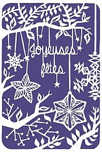 Carte de voeux violet papier découpé photo violet