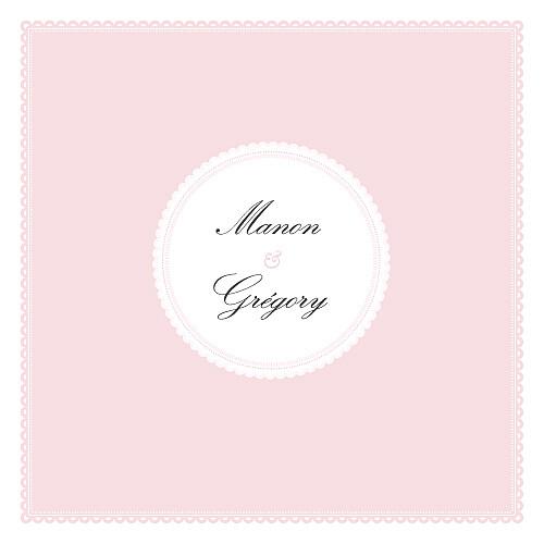 Faire-part de mariage Gourmand (4 pages) rose