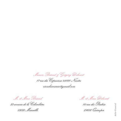 Faire-part de mariage Gourmand (4 pages) rose - Page 4
