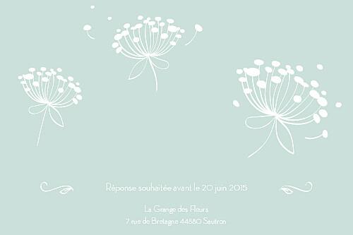 Carton d'invitation mariage Envolée vert d\'eau - Page 2
