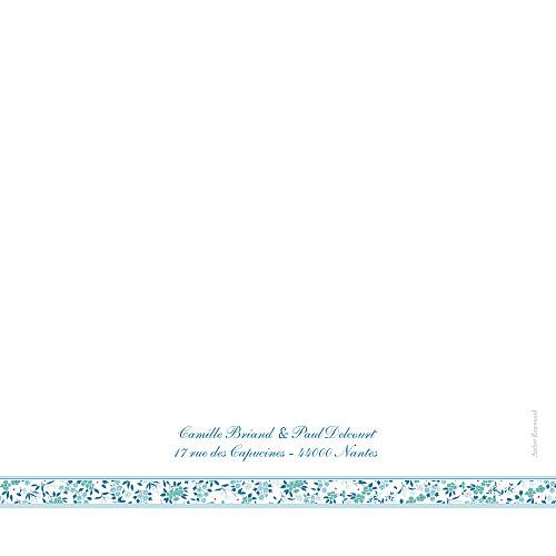 Faire-part de mariage Ruban liberty (carré) bleu - Page 4
