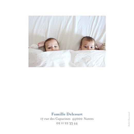 Faire-part de naissance Jumeaux 6 photos blanc - Page 4