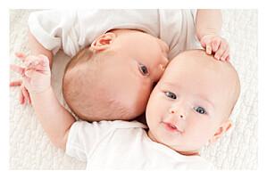 Faire-part de naissance jumeaux jumeaux justifié 4 photos blanc