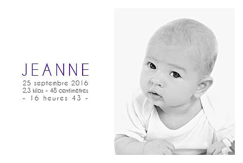 Faire-part de naissance Jumeaux justifié 4 photos blanc