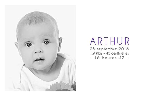 Faire-part de naissance Jumeaux justifié 4 photos blanc - Page 3