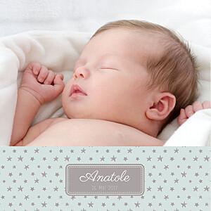 Faire-part de naissance marron nuit étoilée 5 photos jade