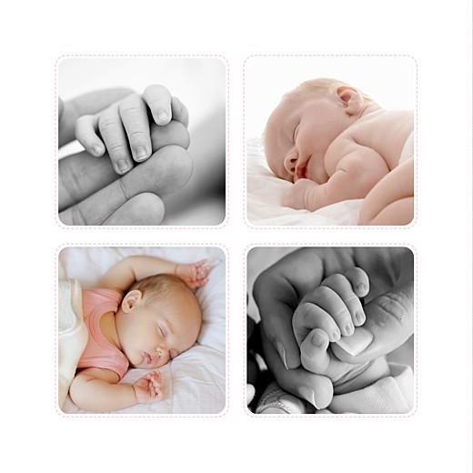 Faire-part de naissance Nuit étoilée 5 photos gris et rose pâle
