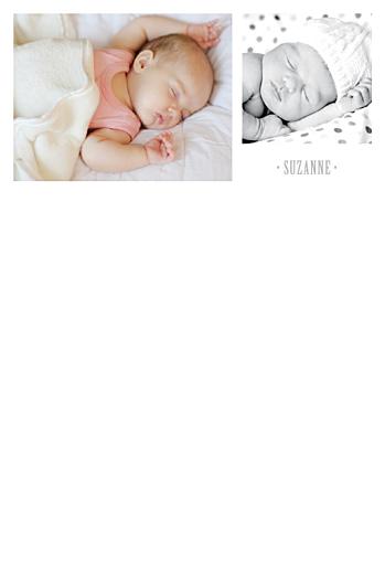 Faire-part de naissance Jumeaux balançoire 5 photos gris - Page 2