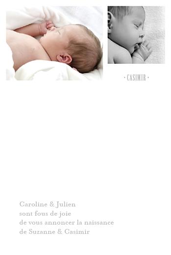 Faire-part de naissance Jumeaux balançoire 5 photos gris - Page 3