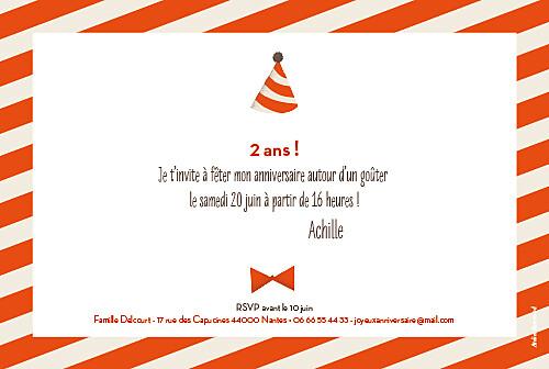 Carte d'anniversaire Nounours orange - Page 2