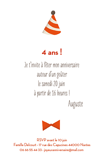 Carte d'anniversaire Nounours photo (4 pages) orange - Page 3