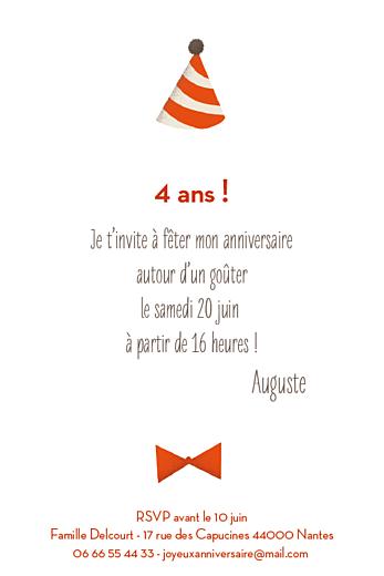 Carte d'anniversaire Nounours photo (4 pages) orange