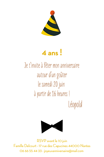 Carte d'anniversaire Lion photo (4 pages) jaune - Page 3