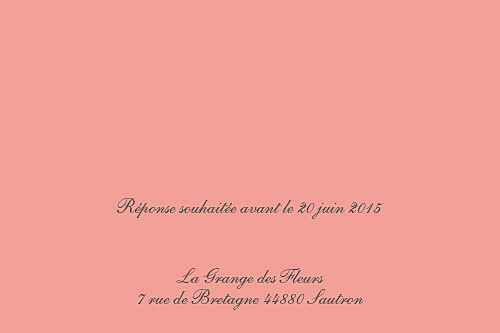 Carton d'invitation mariage Hollywood corail - Page 2