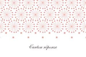 Carton réponse mariage Hollywood corail
