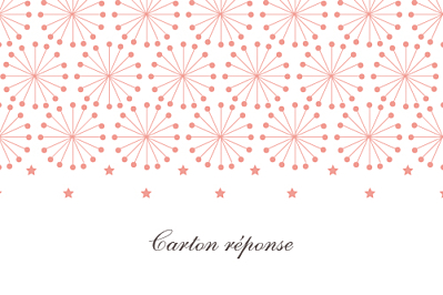 Carton réponse mariage Hollywood corail finition