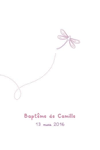 Menu de baptême Libellule (4 pages) prune