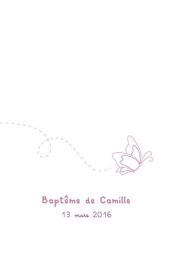 Menu de baptême Papillon prune