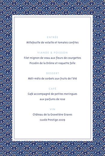 Menu de baptême Pattern écusson (4 pages) bleu - Page 3