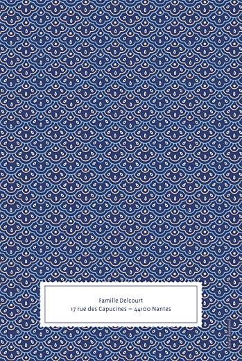 Menu de baptême Pattern écusson (4 pages) bleu - Page 4