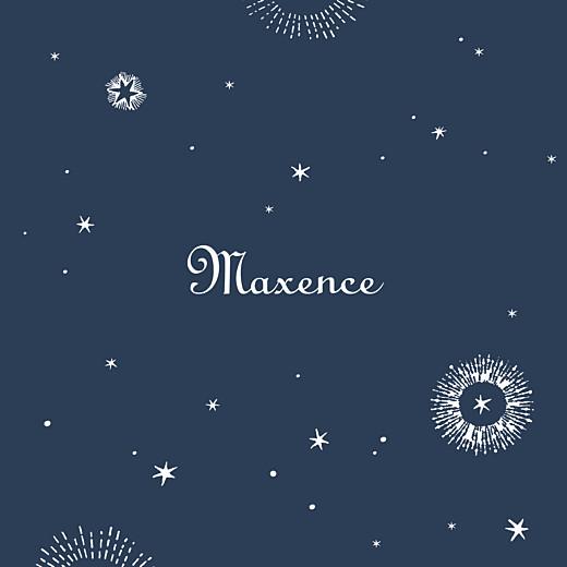 Faire-part de naissance Constellation photo bleu nuit
