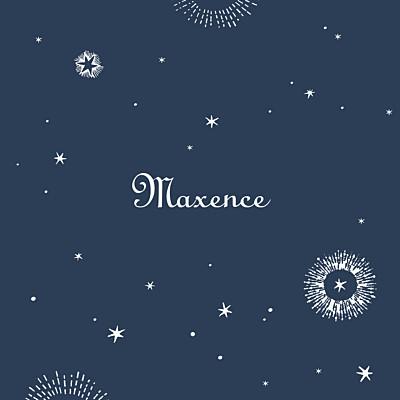 Faire-part de naissance Constellation photo bleu nuit finition