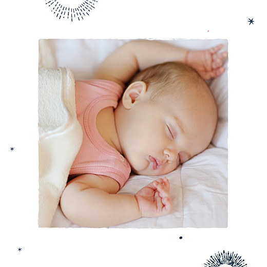 Faire-part de naissance Constellation photo bleu nuit - Page 2