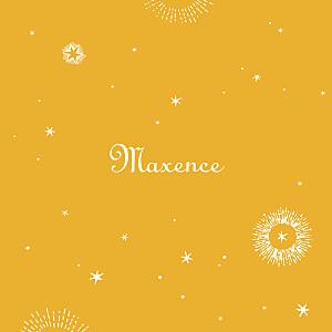 Faire-part de naissance jaune constellation photo jaune or