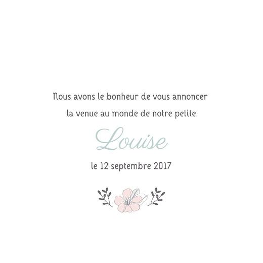 Faire-part de naissance Couronne de fleurs vert pâle - Page 3