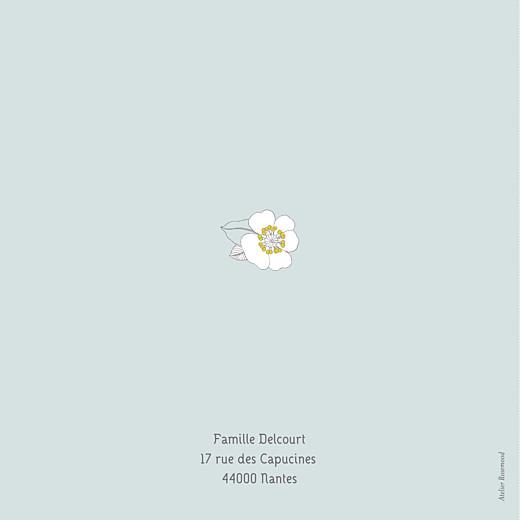 Faire-part de naissance Couronne de fleurs vert pâle - Page 4