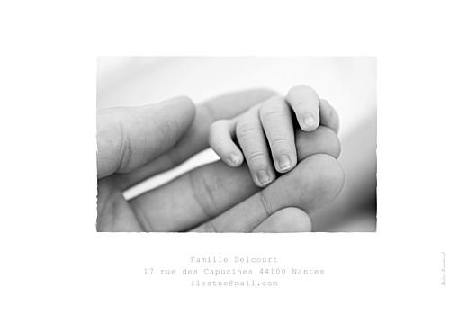 Faire-part de naissance Balade (4 enfants) photos blanc