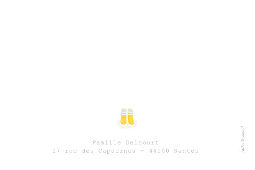 Carte de remerciement Merci balade beige jaune - Page 2